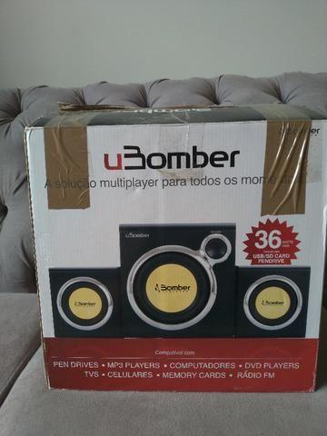 Mini Home Theater Bomber 2.1 para PC/TV 36w RMS
