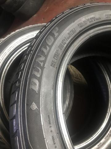 Kit de 4 pneus 185/55/15 meia vidas bons - Foto 2