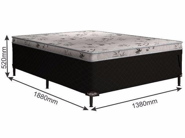 Cama box casal acoplada base e colchão com espuma de 7 cmts - Foto 2