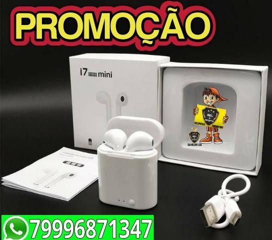 Fone De Ouvido i7s Para Iphone E Android Sem Fio Bluetooth Promoçao - Foto 3