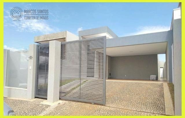 Linda casa nova moderna de alto padrão em rua 06 Vicente Pires - Foto 2