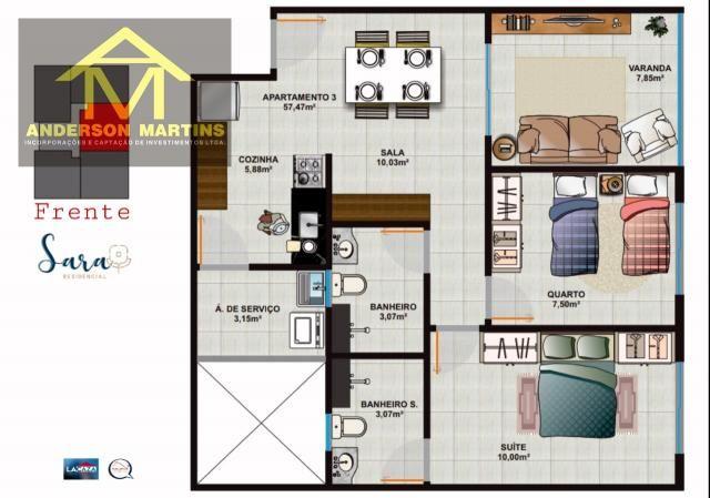 Apartamento à venda com 2 dormitórios em São geraldo, Cariacica cod:14888 - Foto 10
