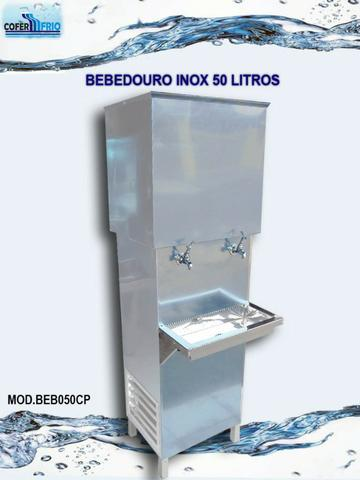Bebedouro inox industrial 50 litros