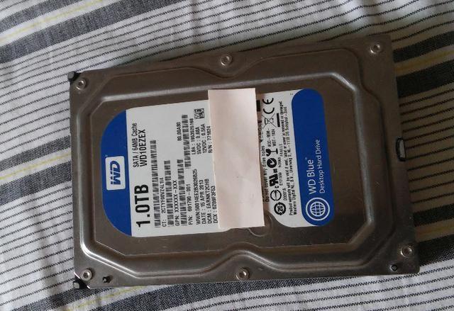 Hd 1tb wd blue WD10EZEX 7200 RPM sata 3.5 usado