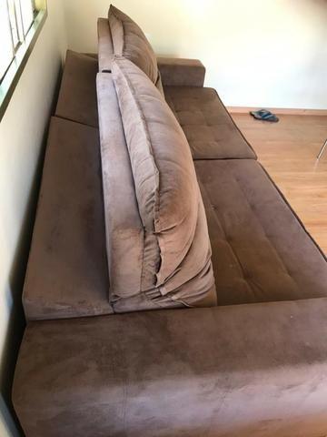 Sofá 2 lug. reclinável e retrátil 2,9M - Foto 3