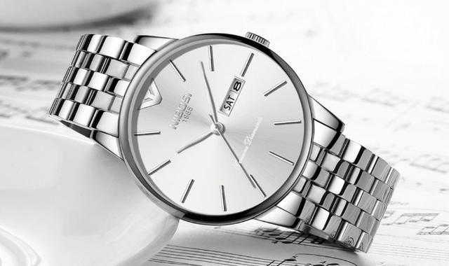 Relógio Masculino Genuine Prateado Nibosi® - Original - Foto 3