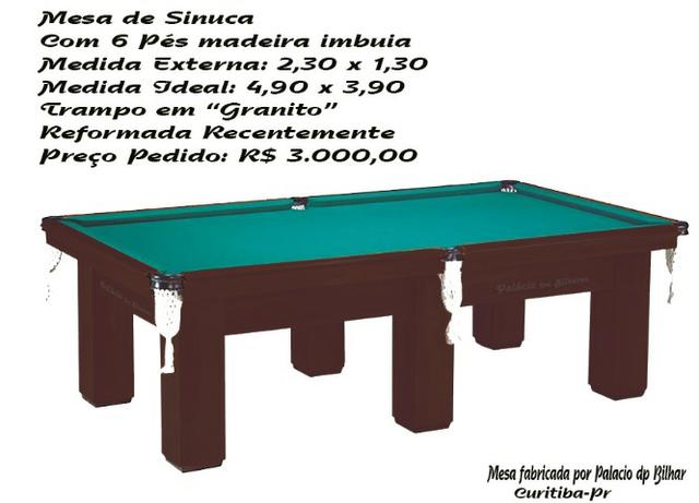 Mesa de Sinuca
