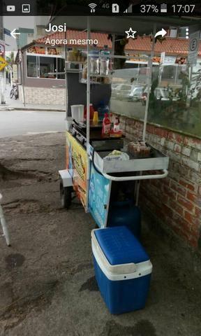 Carrinho de lanches e bebidas com prensa e liquidificar manual - Foto 2