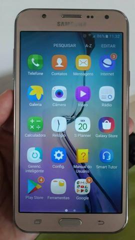 Samsung j5 16gb com flash frontal aceito cartao