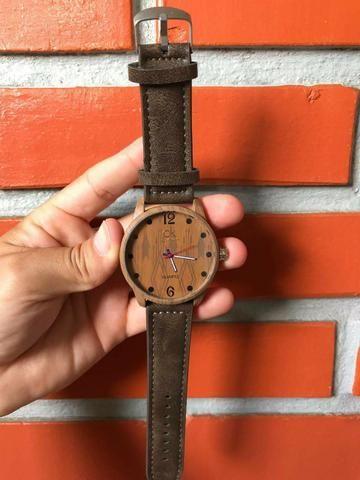 Relógios masculino de couro 99