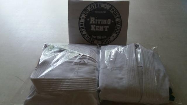Kimono Karatê infantil M3 Branco produtos novos e embalados - Foto 2