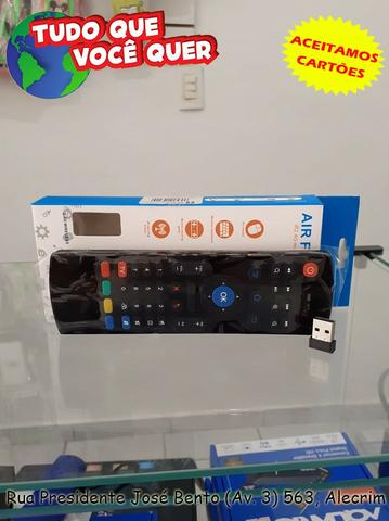 Controle Teclado Air Mouse Sem Fio Usb 2,4ghz Android Pc/Smart TV