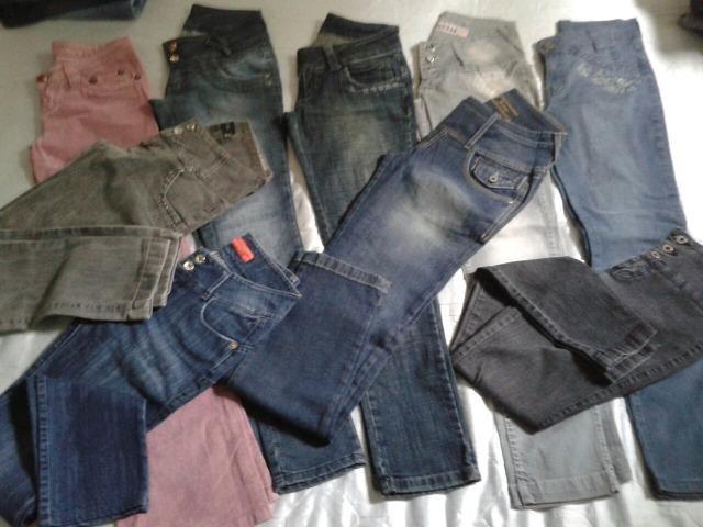 Brecho Lote Calça Jeans 300 peças Vários Tamanhos