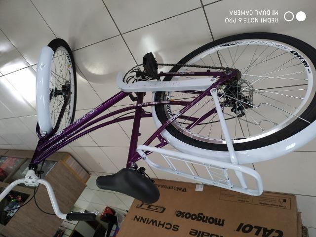 Bicicleta modelo retro nova - Foto 4