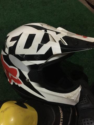 Capacete Fox motocross, trilhas, enduro - Foto 3