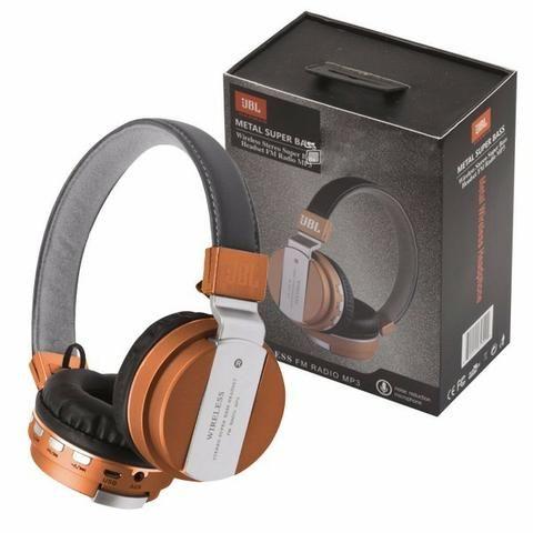 Fone De Ouvido Jb-55 Wireless Bluetooth Headset Sem Fio Mp3 sd - Foto 5