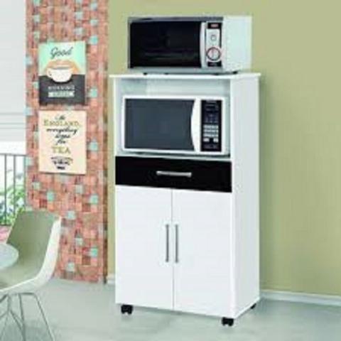Balcao para forno e microondas / com rodinhas / montagem e entrega Gratis - Foto 2