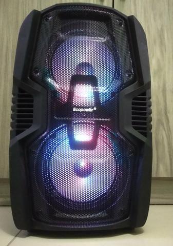Caixa De Som Amplificada Bluetooth,250wrms + 1 Microfone S/f