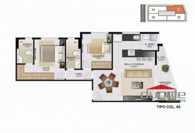 Davi Amarante Apartamento 2 quartos suíte em Bento Ferreira - Foto 11