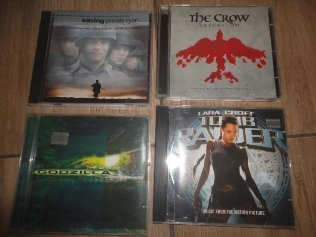 5 CDs Originais / Resgate Soldado Ryan / O Corvo / Tomb Raider / Godzilla