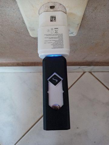 Isqueiro Elétrico USB Recarregável NOVO - Foto 4
