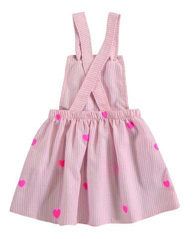 Vestido Bebê Menina Jardineira Infantil Roupa Bebê Feminina - Foto 3