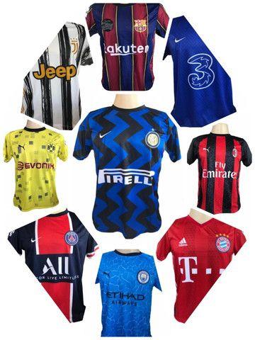 Kit 09 Camisas De Times De Futebol (bordada) Europeu! - Foto 3