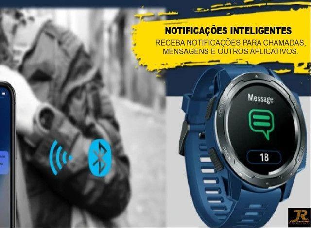 ?LANÇAMENTO?Relógio SmartWatch Zeblaze Vibe 5? Azul - Foto 3