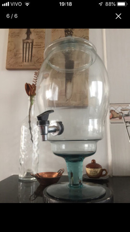 Recipiente de vidro 3,5litros c/torneira - Foto 6
