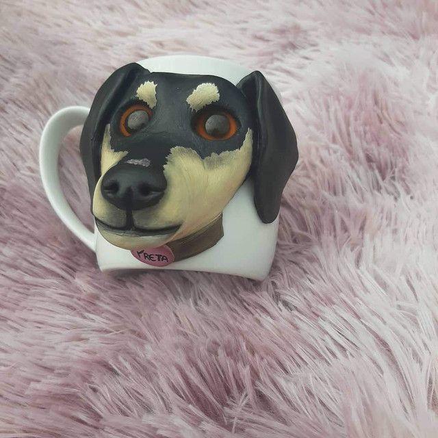 Caneca Personalizada Com Biscuit  - Foto 3