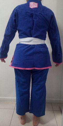 Kimono feminino A2 Keiko azul Quimono - Foto 3