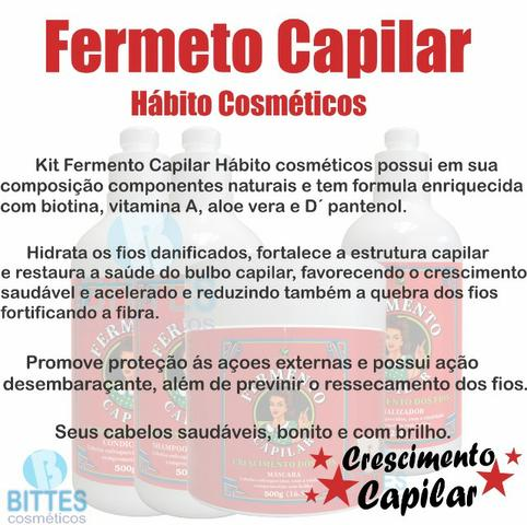 Fermento Capilar Hábito Cosméticos - Foto 4