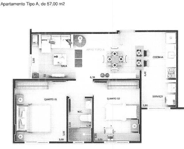 Apartamento em Samambaia, 2 quartos - QR402 - Ed. Paineiras