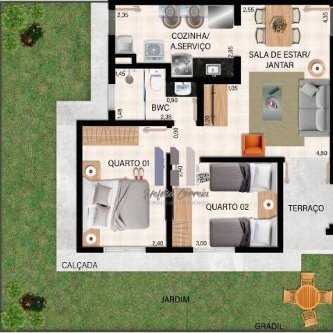 Apartamento com 2 dormitórios à venda, 48 m² por R$ 148.000 - Pium (Distrito Litoral) - Pa - Foto 2