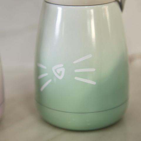 Garrafa Térmica De Inox com Pata De Gatinho 280 ML - Foto 5