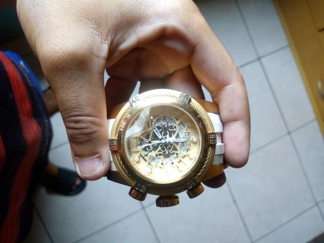 Relógio invicta original + cordão banhado - Foto 3