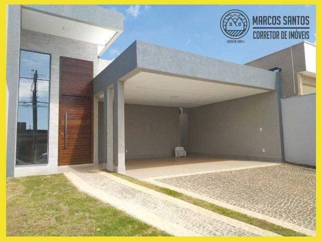 Linda casa nova moderna de alto padrão em rua 06 Vicente Pires - Foto 3