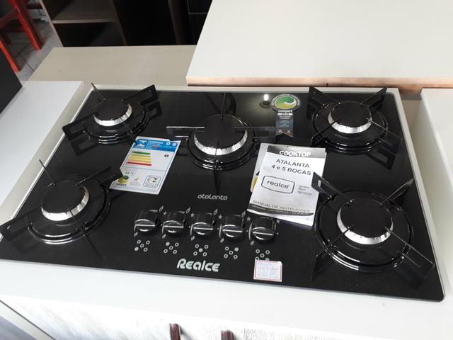 Fogão cooktop 5 bocas novo - Foto 2