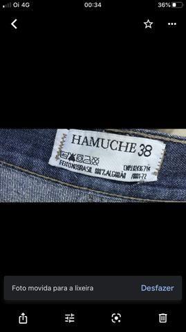 Calça jeans retrô, Hemuche , única, tamanho 38, original - Foto 5