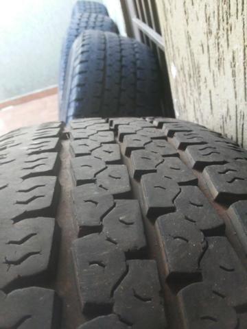 Rodas f250 com pneus goodyear - Foto 6