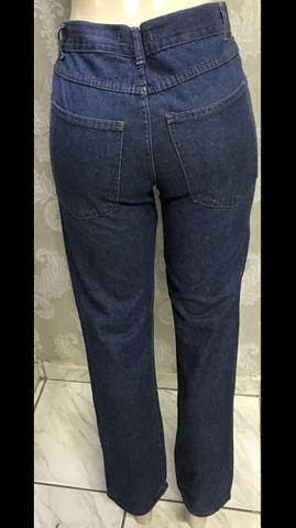 Calça jeans retrô, Hemuche , única, tamanho 38, original - Foto 3
