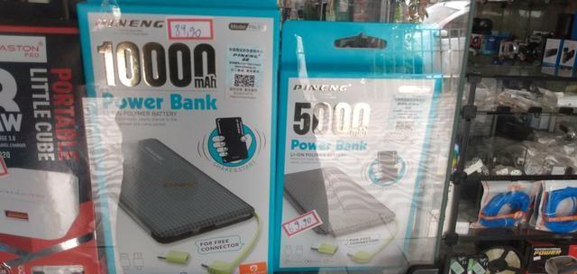 Vendo carregadores portáteis, tenho de R$ 30,00 até 139,90