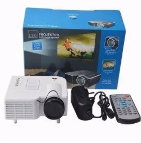 Mini projetor LED - 100 polegadas- videos filmes fotos - Foto 2
