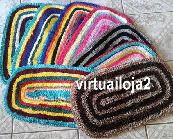 Tapete franzido malha fria colorido para porta - Foto 2