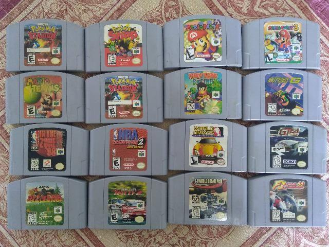 16 cartuchos originais de N64