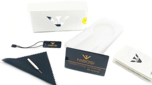 Relógio Masculino Genuine Prateado Nibosi® - Original - Foto 5