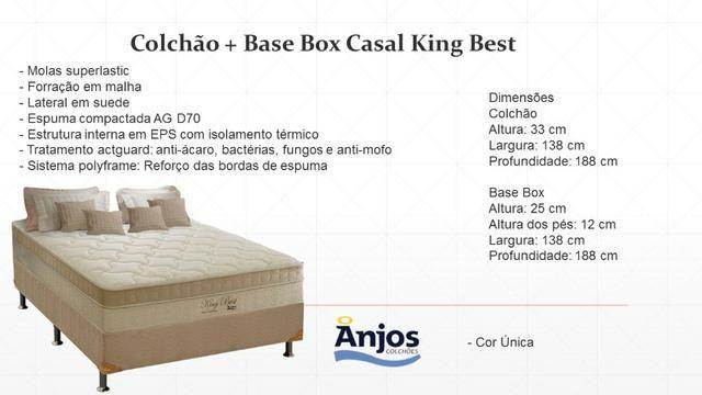 Colchão e base Casal King Best Anjos Colchões - Foto 2