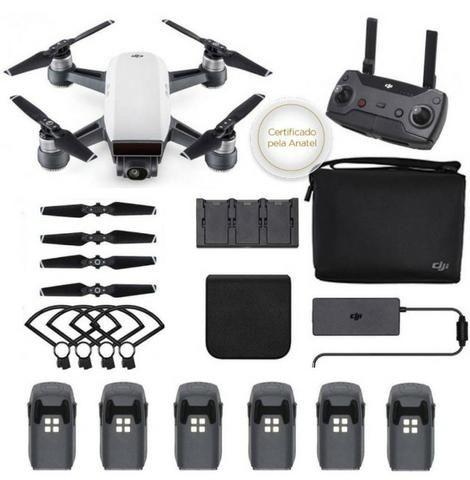 Drone Spark Fly More Combo, Dji 6 baterias extra usado Completao