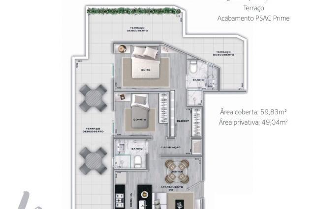 Apartamento à venda com 2 dormitórios em Lourdes, Belo horizonte cod:267365 - Foto 2