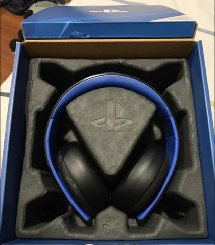 Fone De Ouvido Headset Gold Ps4 Wireless Stereo 7.1 Ps4 - Foto 3